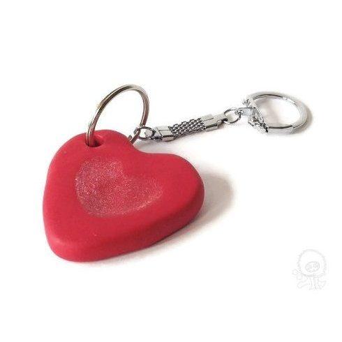 FIMO szív kulcstartó