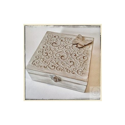 Fa doboz - sablon díszítés - ÖTLET