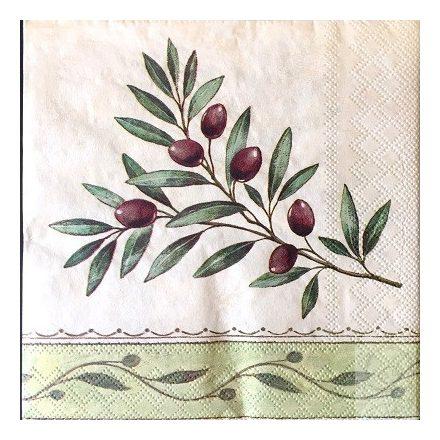 Decoupage szalvéta oliva ága