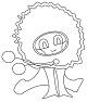 Szalvéta normál méretű (33X33cm) -  Virág bézsben