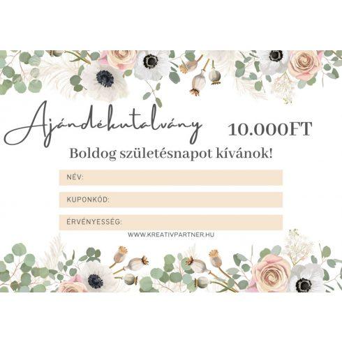 Ajándék utalvány - 10.000 Ft értékben