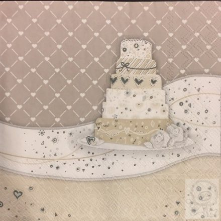 Decoupage szalvéta torta