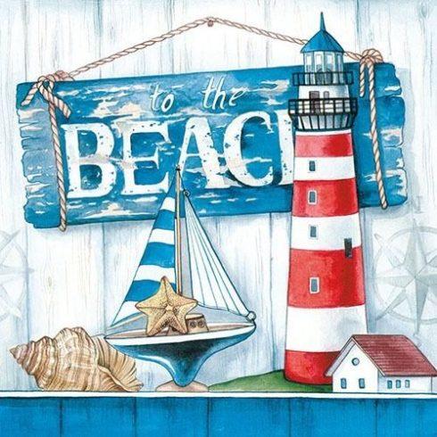 Szalvéta normál méretű (33X33cm) - Beach