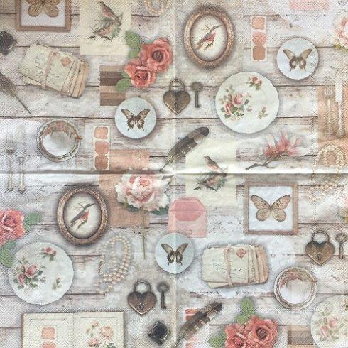 Textúrás szalvéta - Romantik