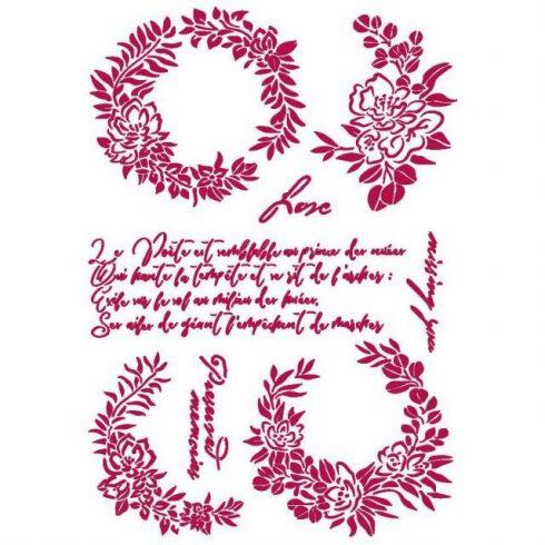 Stencil - Romantikus füzérek