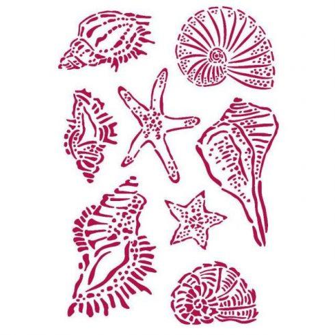 Stencil -  Romantikus kagylók
