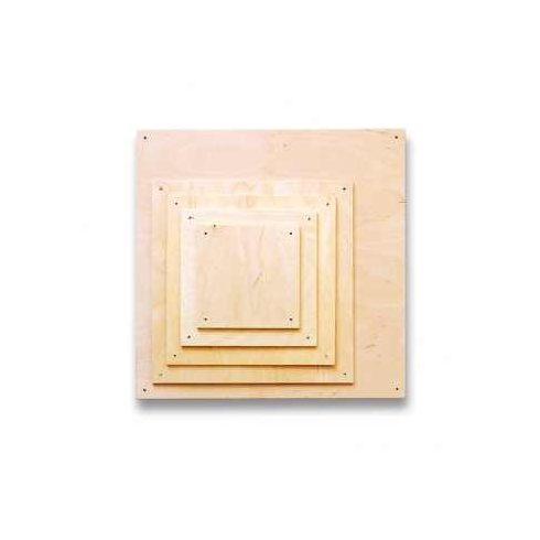 Fa lapok - négyzet - 10x10cm - 5db