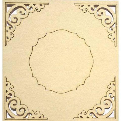 Chipboard - Papír dekoráció - Sarok minta cimkével1
