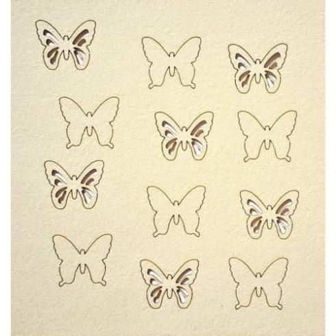 Chipboard - Papír dekoráció -  Pillangók