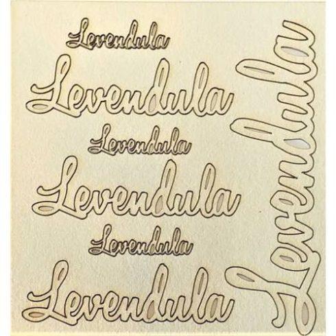 Chipboard - Papír dekoráció -  Levendula