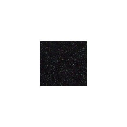 Csillogó, glitteres filc anyag - fekete 40x30cm