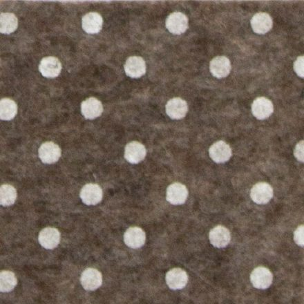 Pöttyös puha filc anyag barna melange - fehér 40x30cm
