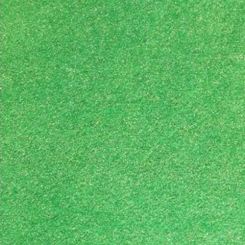 Csillogó, glitteres filc anyag - zöld 40x30cm