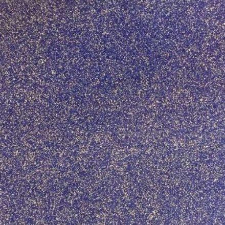 Csillogó, glitteres filc anyag - sötétkék 40x30cm