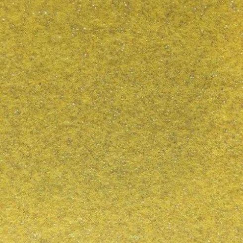 Csillogó, glitteres filc anyag - sárga 40x30cm