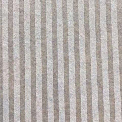 Csíkos puha filc anyag bézs - krém 40x30cm