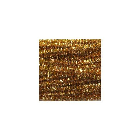 Zsenília drót - csillámos arany