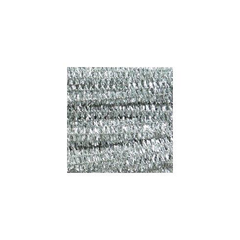 Zsenília drót - csillámos ezüst