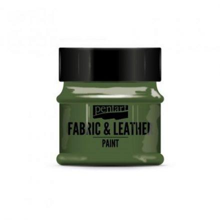 Pentart textil és bőrfesték - csillogó zöld