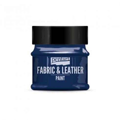 Pentart textil és bőrfesték - csillogó kék