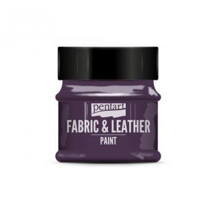Pentart textil és bőrfesték - csillogó lila