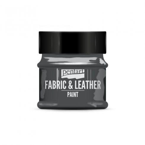 Pentart textil és bőrfesték - csillogó grafit
