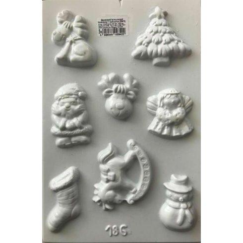 Gipszkiöntő forma - Karácsony - 8 forma