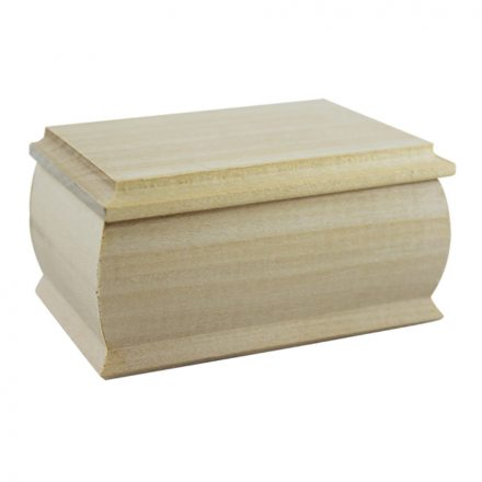 Fa doboz - Ékszerdoboz - 12,5x8,5x5,5