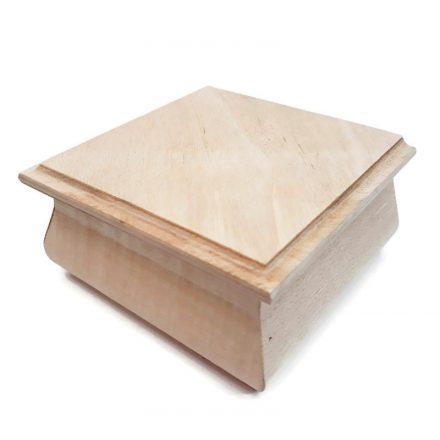 Fa doboz - Ékszerdoboz - 8x8x5cm