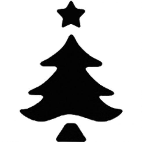 Mintalyukasztó - 25mm - karácsonyfa