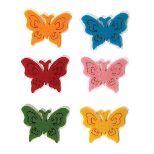Filc díszek - Pillangók - 6db