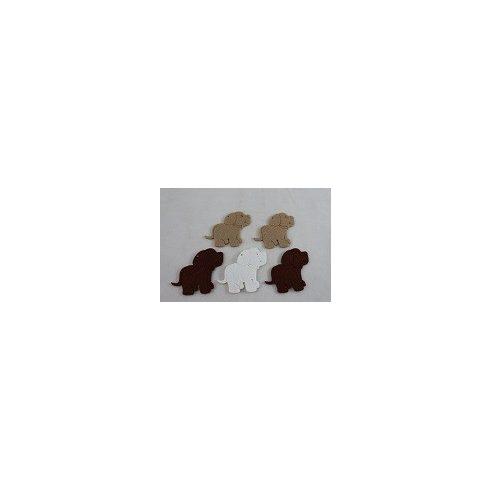 Filc díszek - Kutyusok - 5db
