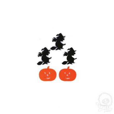 Filc díszek - Halloween, boszis-tökök