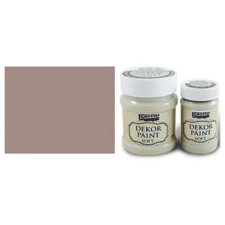 Pentart Dekor Paint Soft - Vintage barna - 100ml