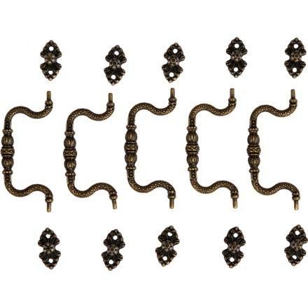 Fém fogantyú, 90x39 mm (5db/csomag) - bronz