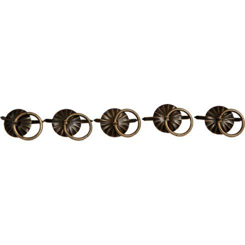 Fém Milton kapocs, kerek 20x19 mm (5 db/csomag) - bronz