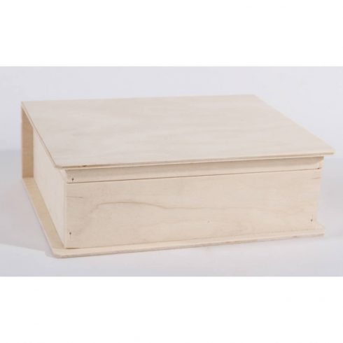 Könyv formájú fa doboz