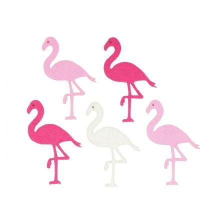 Filc-diszek-Flamingok