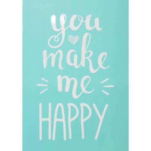 Öntapadós stencil - You make me happy