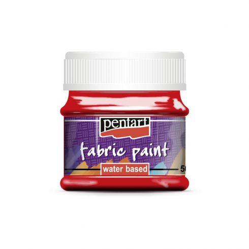 Textilfesték - alap színek - piros - 50ml