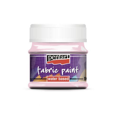 Textilfesték - alap színek - rózsaszín - 50ml
