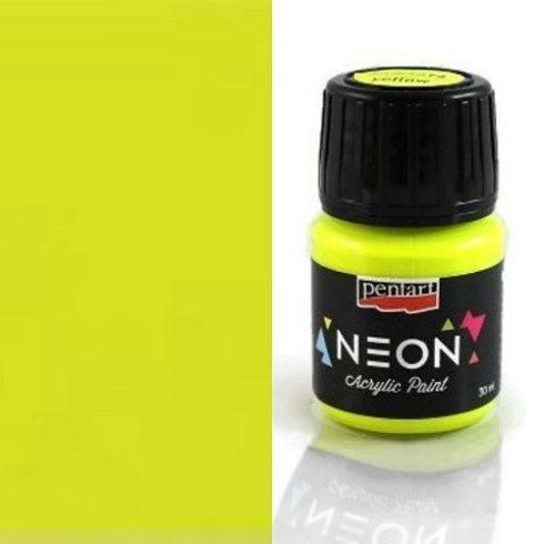 Neon színű akril festék - Sárga