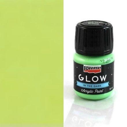 Sötétben világító akril festék - Lime