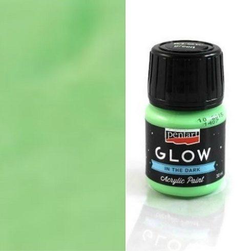 Sötétben világító akril festék - Zöld