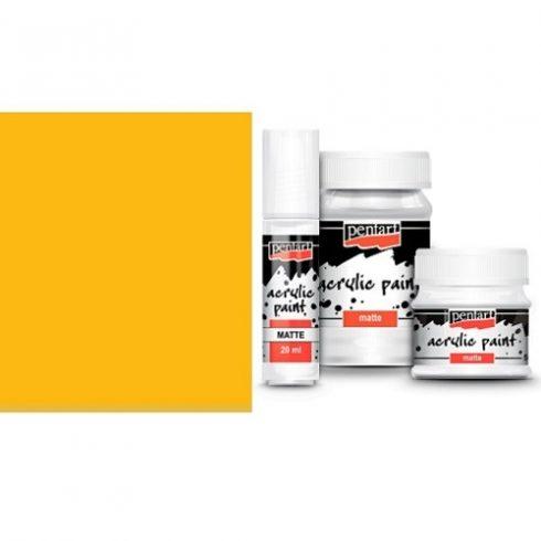 Matt akril festék - Nap sárga - 20ml