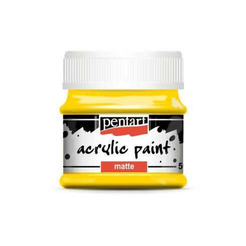 Matt akril festék - Sárga - 50ml
