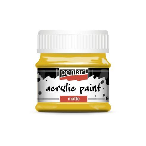 Matt akril festék - Nap sárga - 50ml