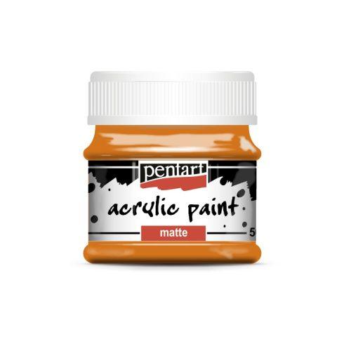 Matt akril festék - Narancs - 50ml
