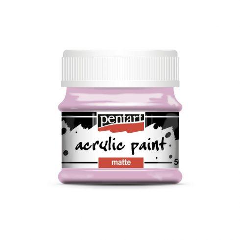 Matt akril festék - Rózsaszín - 50ml
