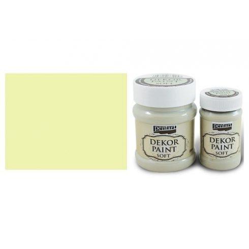 Pentart Dekor Paint Soft - Sárga -  230ml